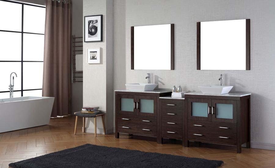 90 double sink bathroom vanity