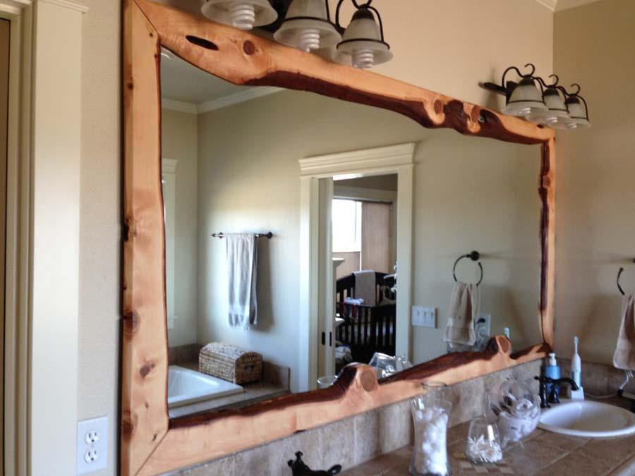 Bath vanity mirrors framed