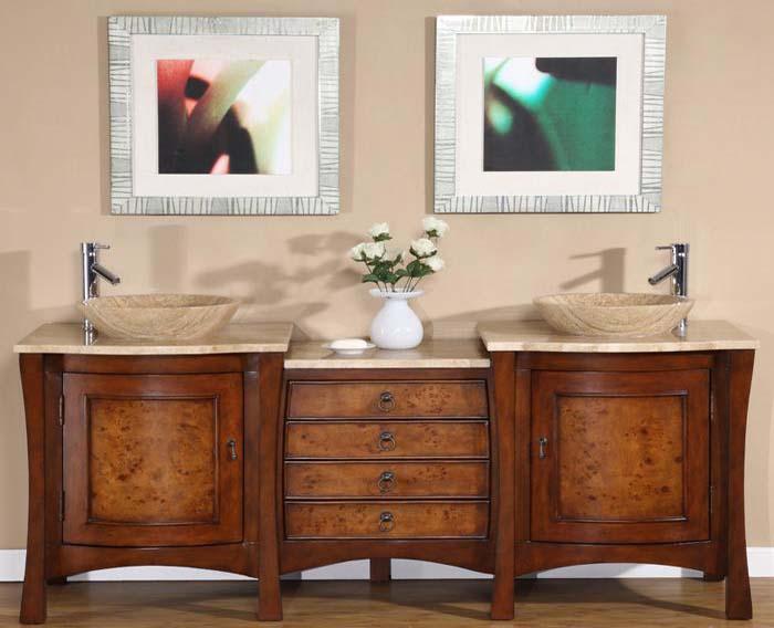Bathroom vanity double sink 72