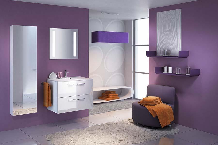 Bathroom vanity floating style
