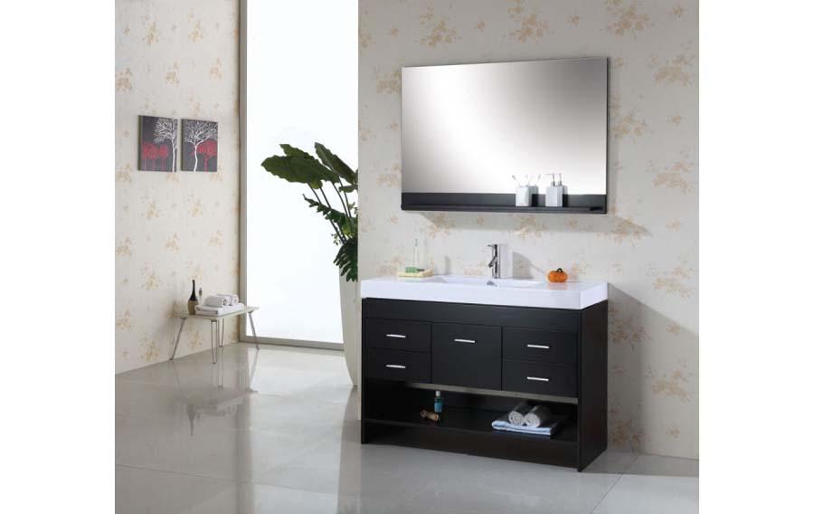Bathroom vanity single sink