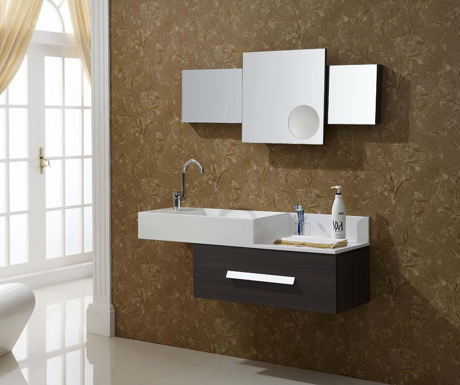Contemporary bath vanities wall mounted