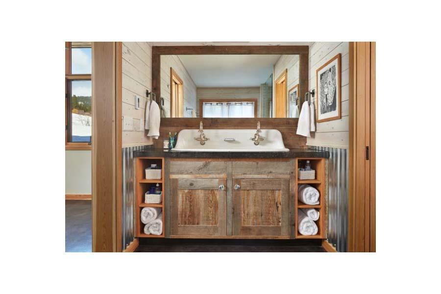 Country Double Sink Bathroom Vanities