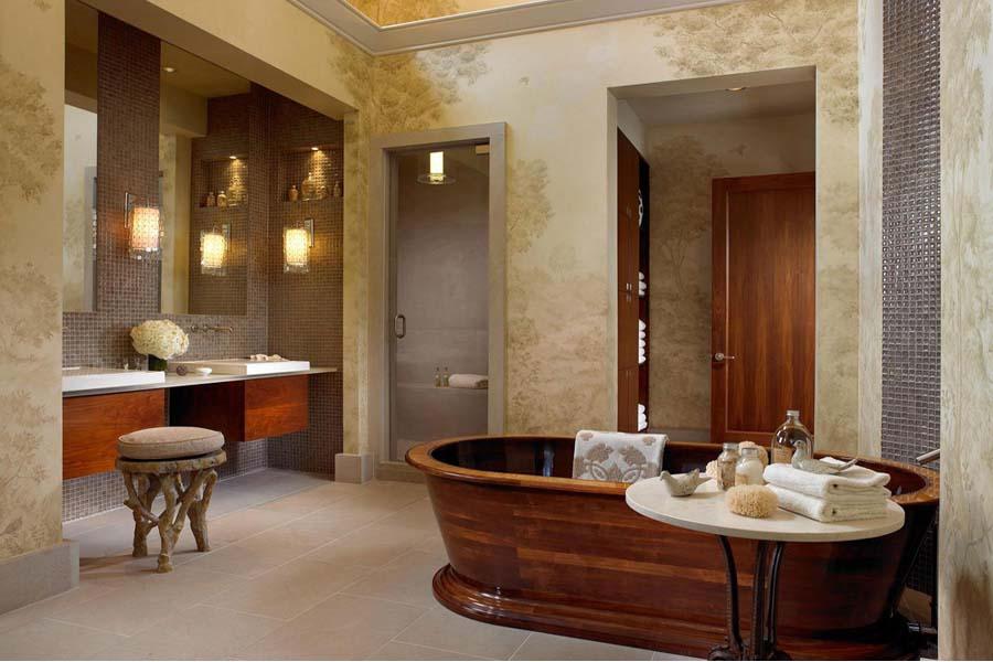 Distressed wood bathroom vanities