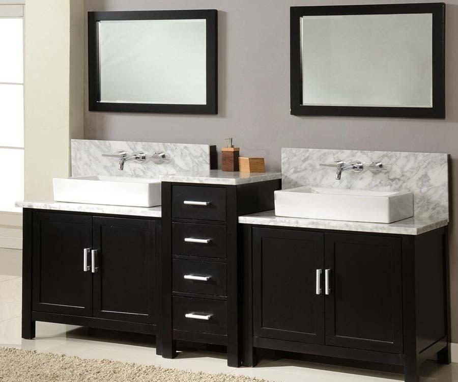 Double sink bathroom vanities and cabinets