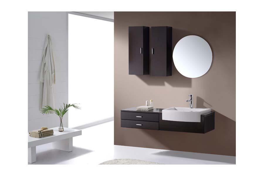 Floating bathroom sink vanity