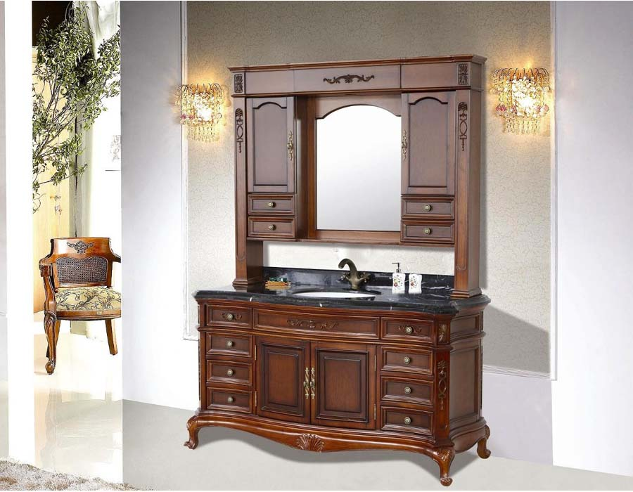 Retro bathroom vanity design