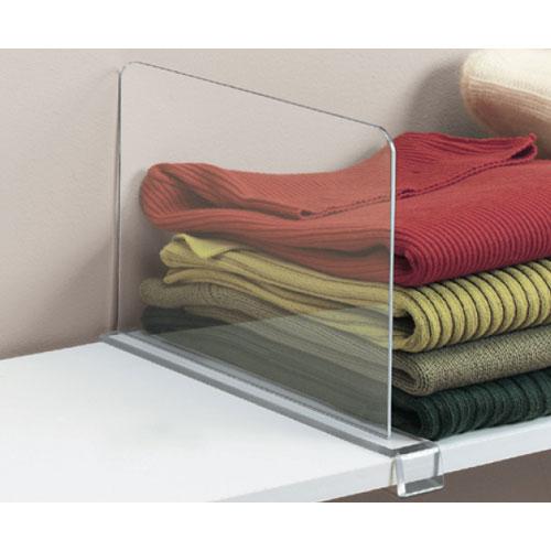 acrylic shelf dividers closet