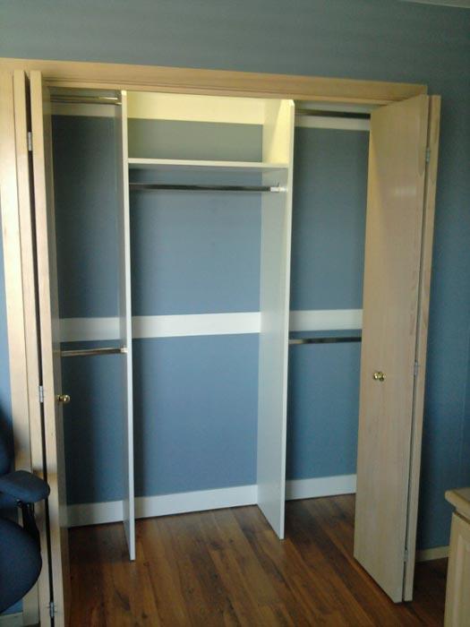 basic reach in closet design
