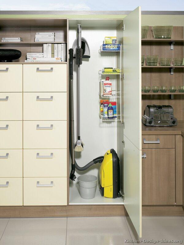 broom closet cabinet kitchen