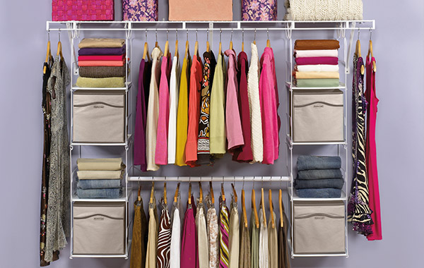 closet organizers for wire systems