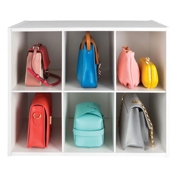 closet purse organizer container store