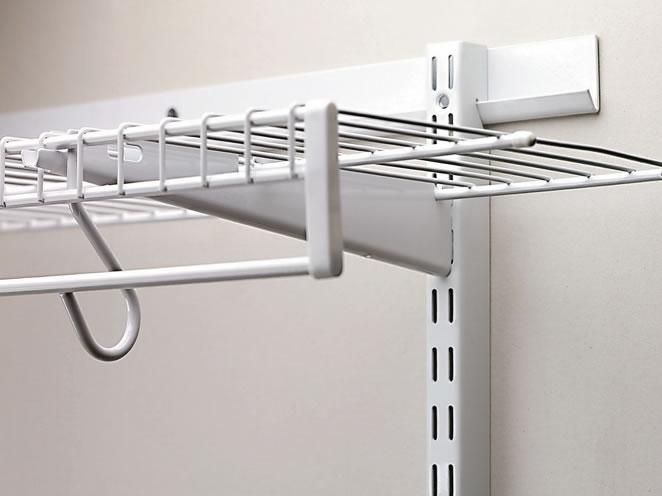 closet shelf bracket spacing