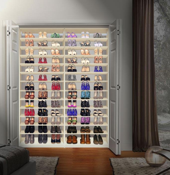 closet shoe storage units