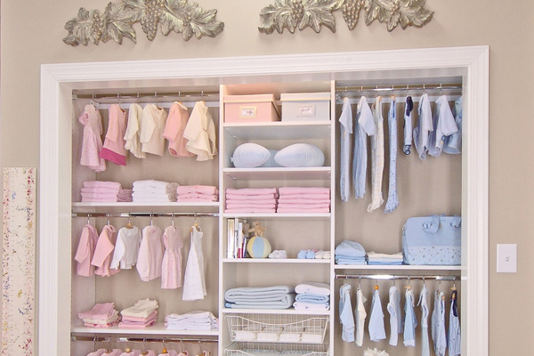 closet storage ideas for babies