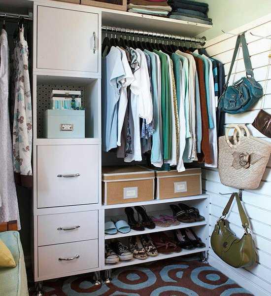 closet storage ideas for purses