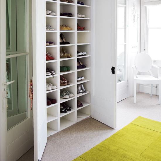 closet storage ideas for shoes
