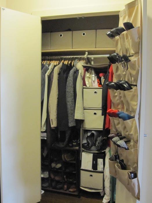 closet wall shoe organizer