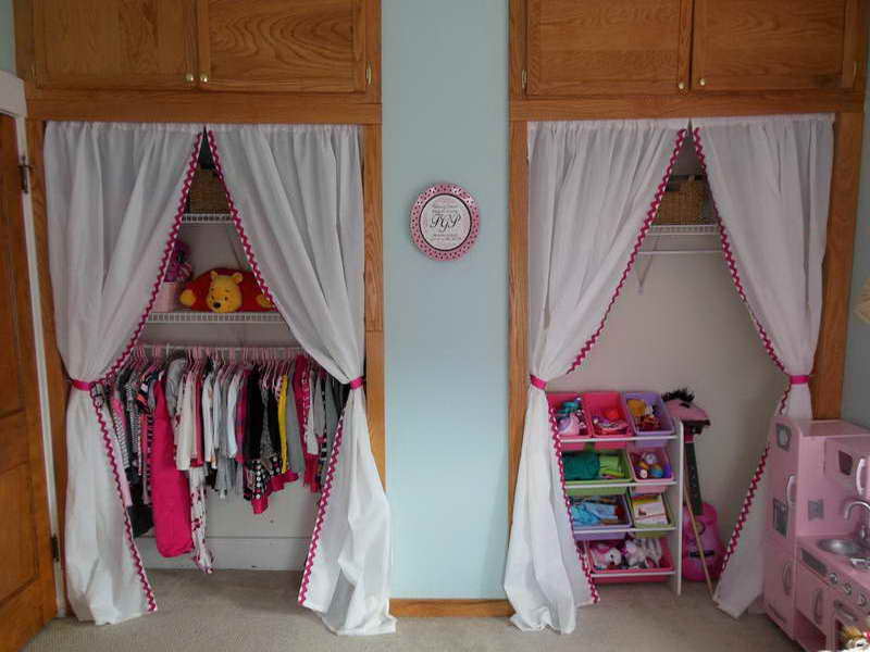 curtains for closet doors in nursery