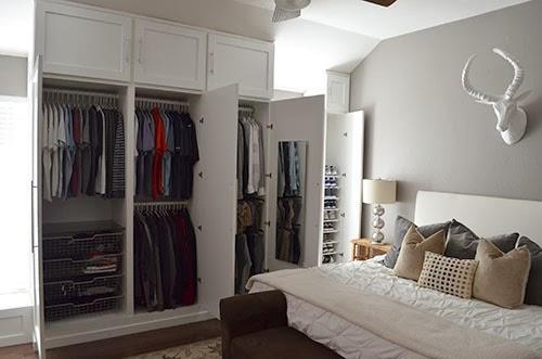 custom built shoe closet