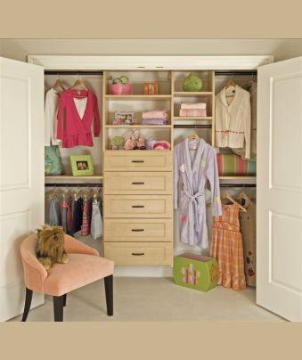 design a reach in closet layout