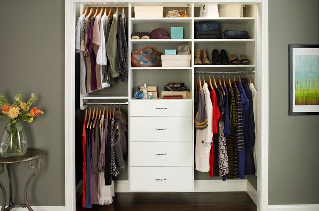 diy reach in closet organization ideas