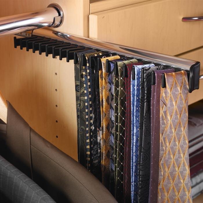 electric tie racks for closets