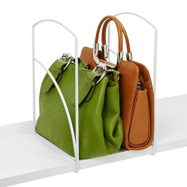 handbag organizer in closet