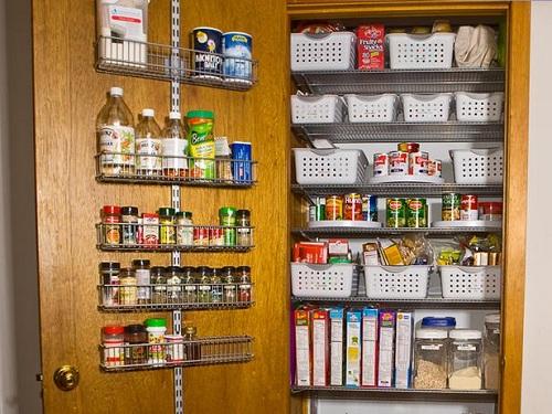 kitchen pantry organizer rack