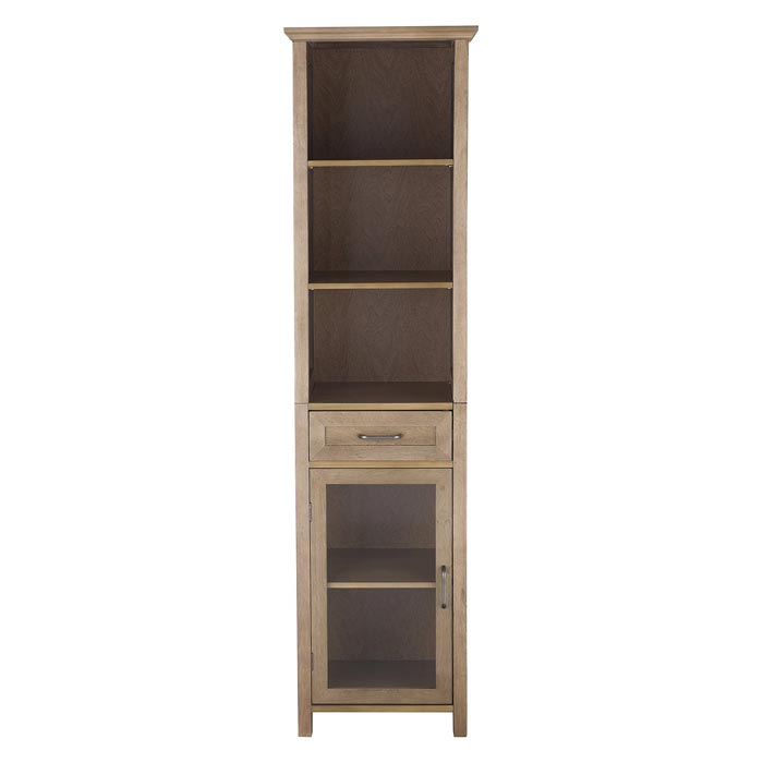 linen cabinets and shelves