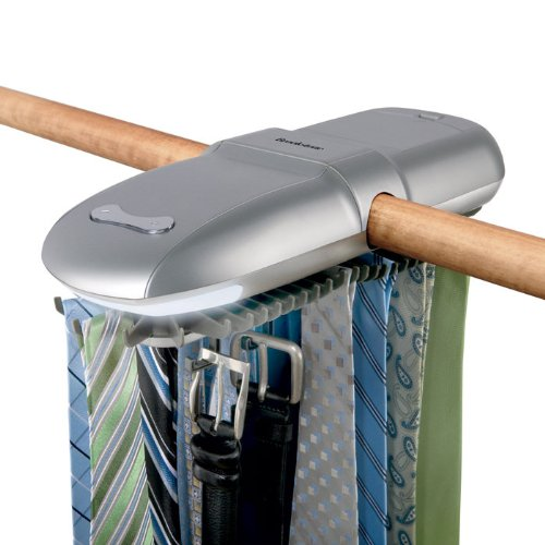 motorized tie racks for closets