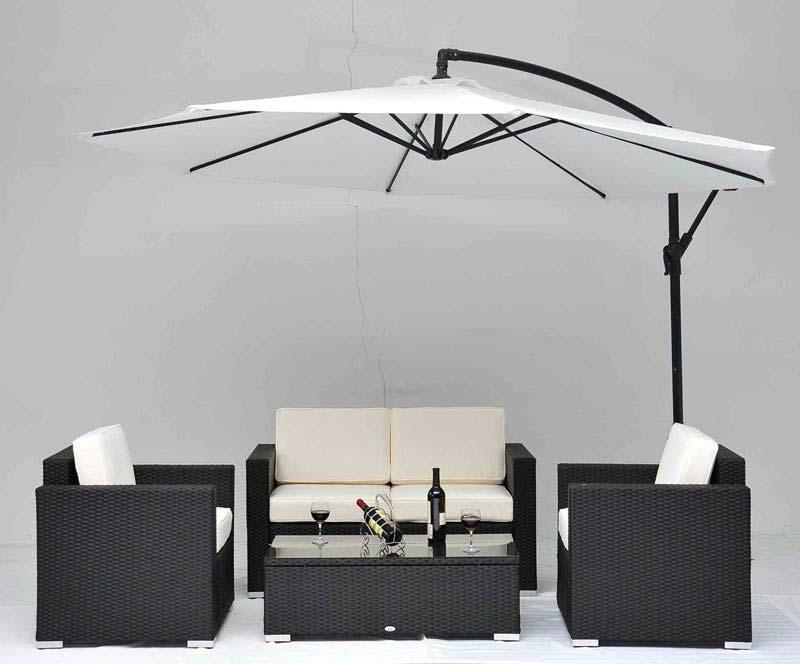 4 Pc Outdoor Rattan Sofa Wicker Sectional Patio Garden Furniture
