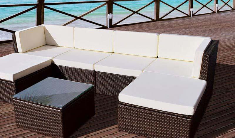 Amalfi Rattan 5 Piece Corner Unit Garden Furniture Set