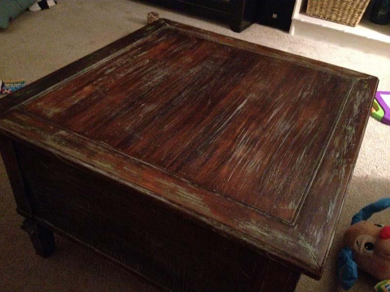 Distressed Coffee Table Diy