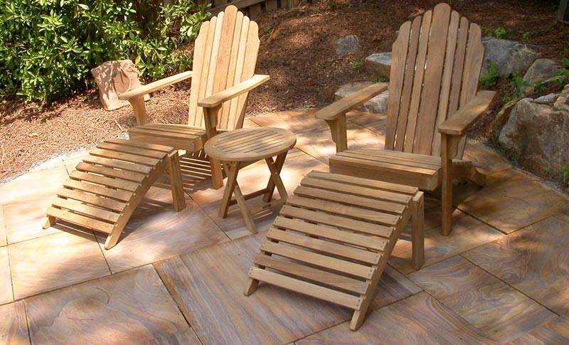Folding Garden Chair With Footrest