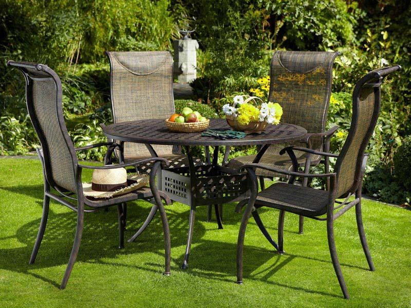 Round Metal Garden Furniture Sets