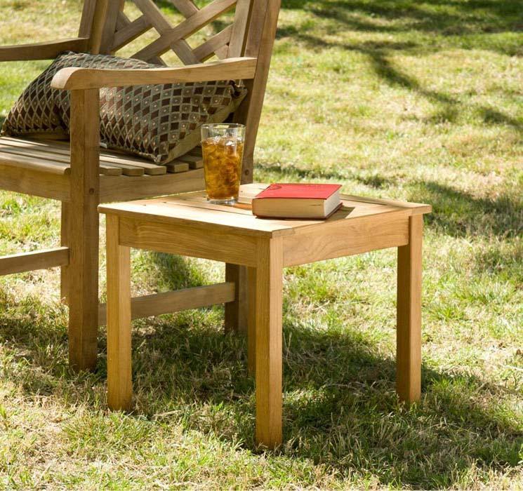 Teak Outdoor End Table