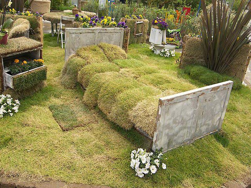 Unusual Rustic Garden Furniture Couch