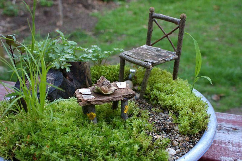 Miniature Garden Furniture Ebay