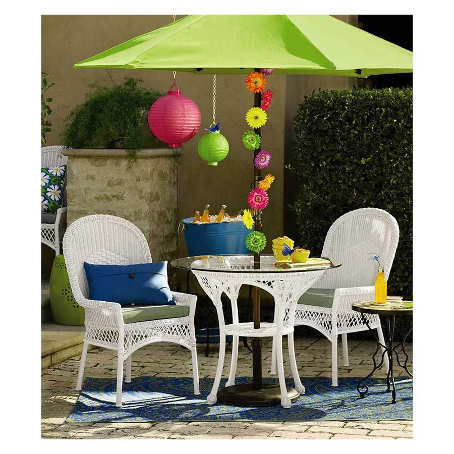 Rattan Patio Set With Umbrella