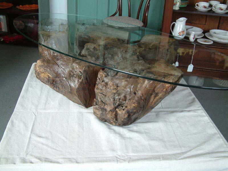 Round Tree Stump Coffee Table