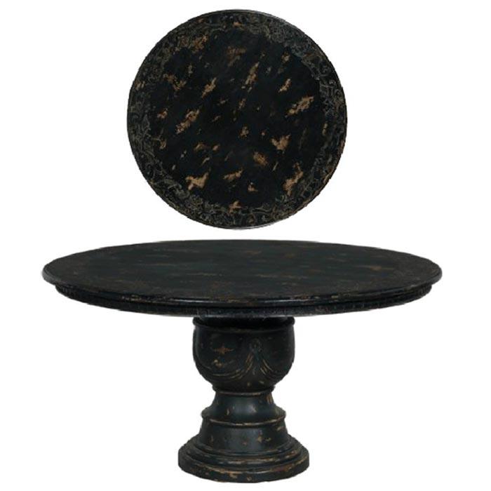 Black Pedestal Coffee Table