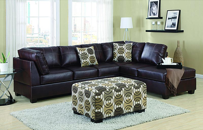 4 Piece Leather Sectional Sofa