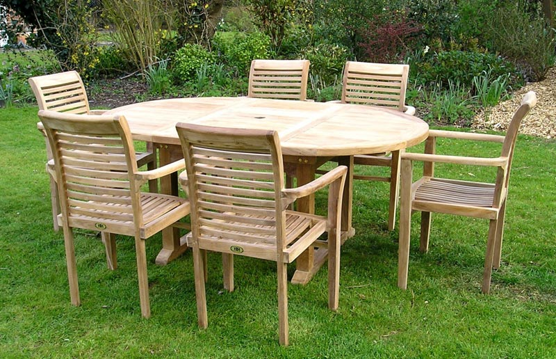 6 Seater Teak Garden Furniture Set
