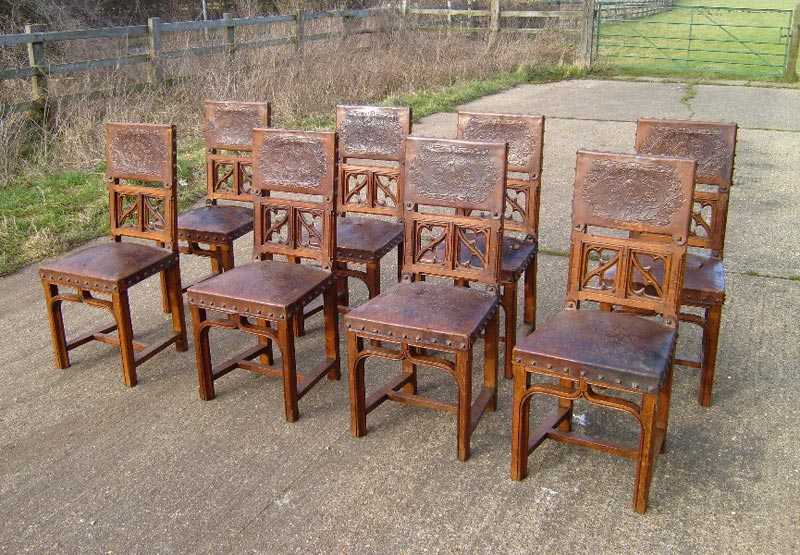 Antique Oak Dining Chairs For Sale
