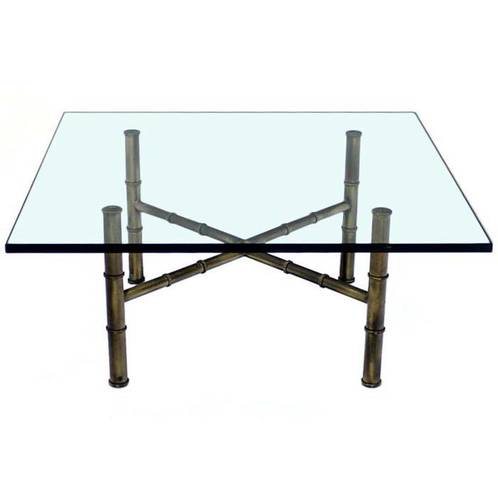 Bamboo Glass Coffee Table