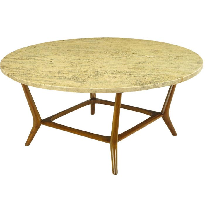 Italian Travertine Coffee Table