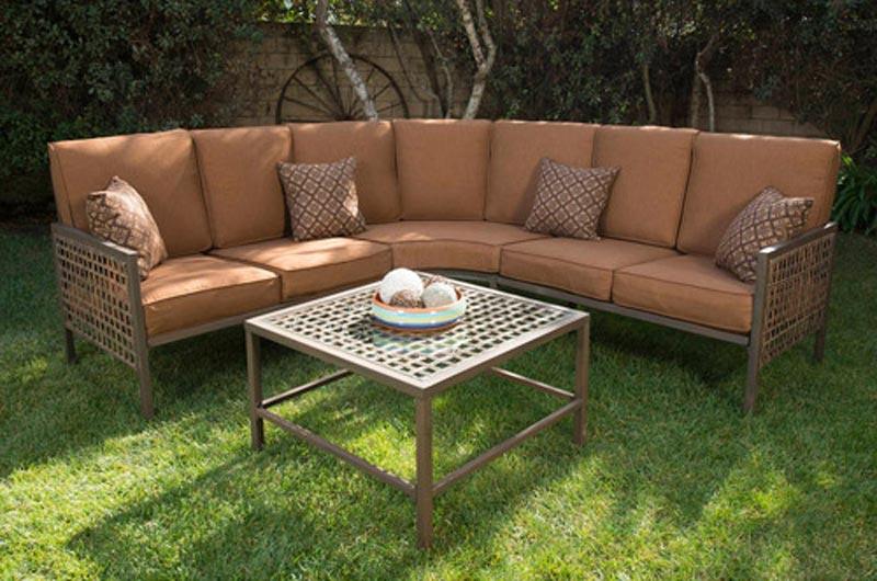 Soho 4 Piece Woven Wicker Outdoor Sectional Sofa