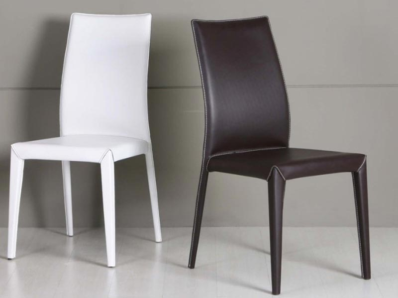 Stretch Leather Dining Room Chair Cover 2 Set Bundle
