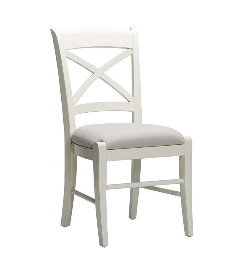 White Cross Back Dining Chairs